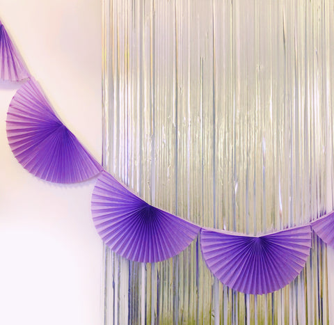 Violet Fan Tissue Garland