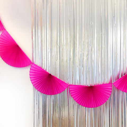 Hot Pink Fan Tissue Garland