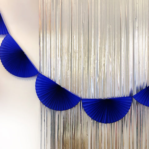Cobalt Fan Tissue Garland
