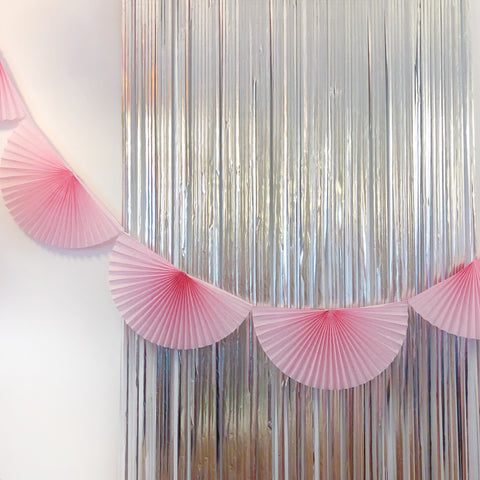 Pink Fan Tissue Garland