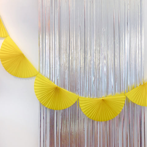 Yellow Fan Tissue Garland