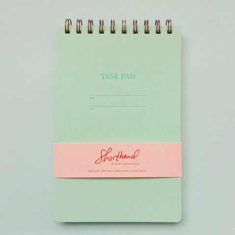 Shorthand Task Pad - Mint