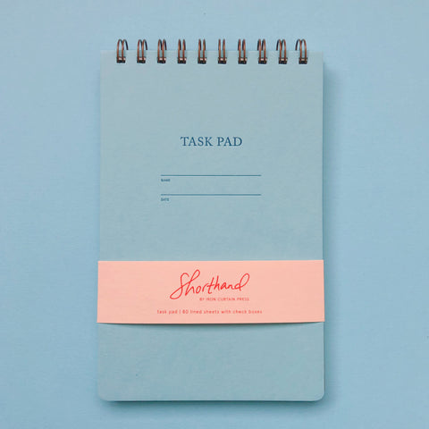 Shorthand Task Pad - Pool Blue
