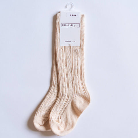 Vanilla Cream Knee High Socks