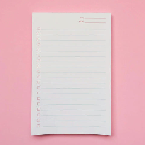 Shorthand Checklist Notepad