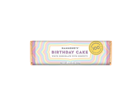 Birthday Cake White Chocolate Bar 2.25oz