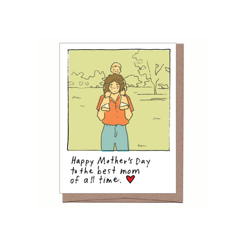Best Mom of All Time Mother's Day Card