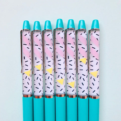 Teal Floaty Pen - Sprinkle