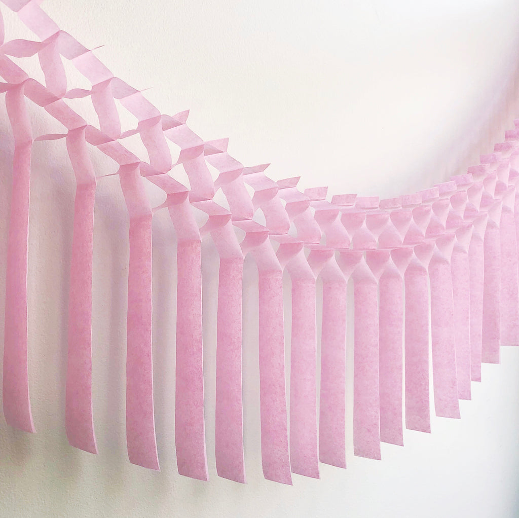 Cotton Candy Fringe Tissue Garland