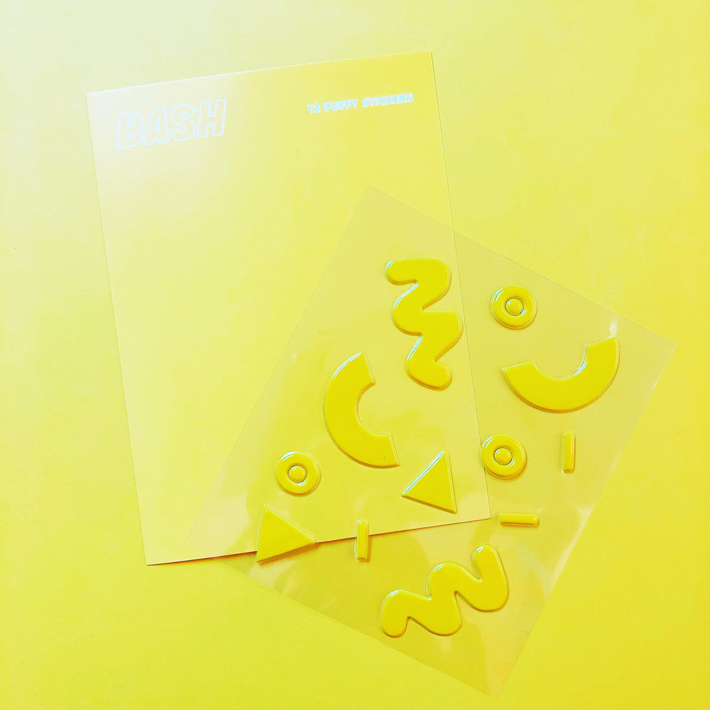 Yellow Puffy Stickers