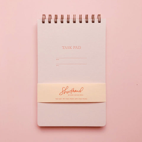 Shorthand Task Pad - Pink
