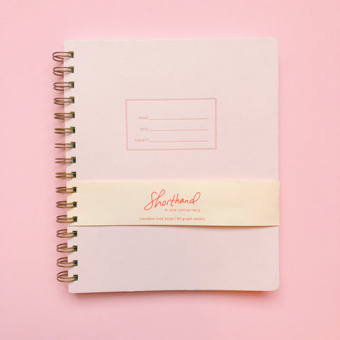 Shorthand Graph Notebook - Pink Lemonade