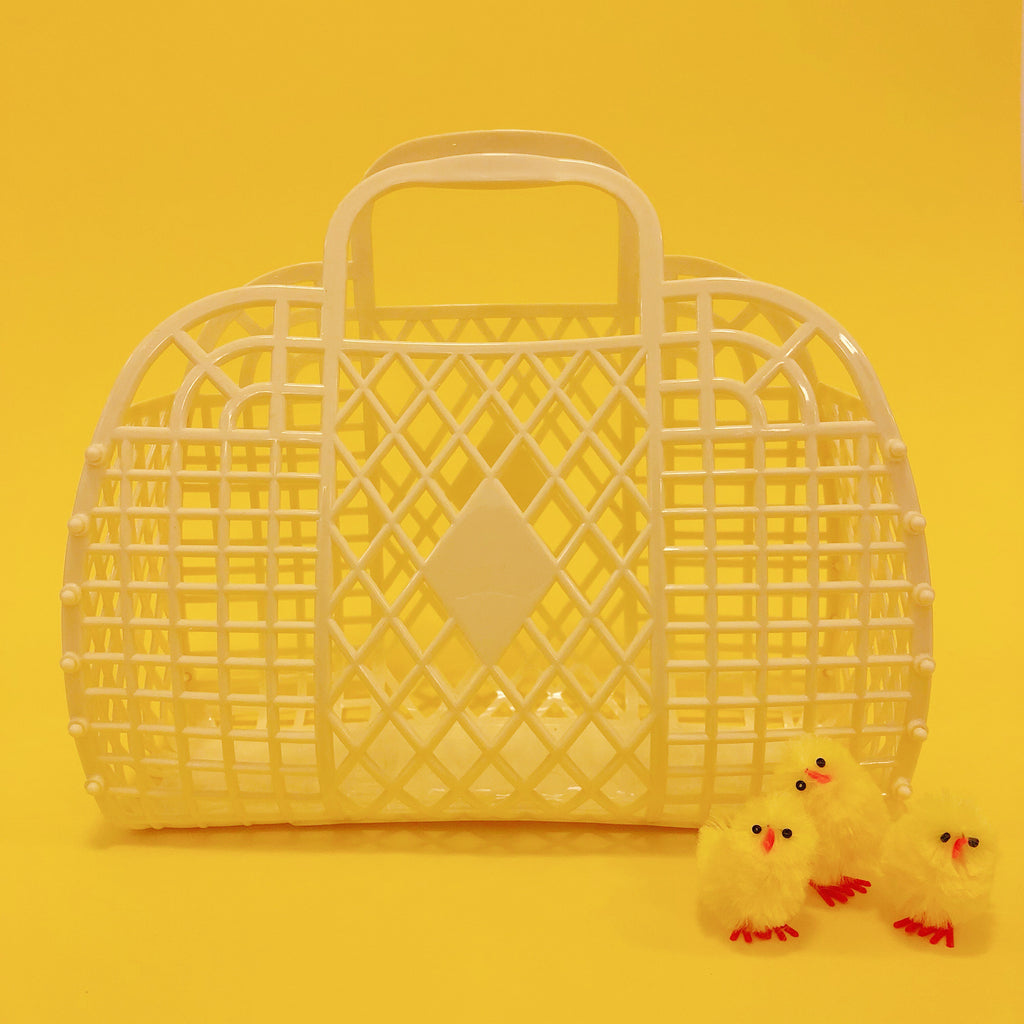 Jelly Retro Basket - Mini Butter Yellow