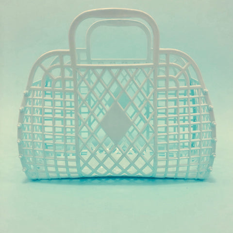 Jelly Retro Basket - Mini Mint