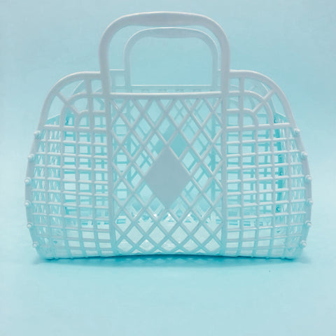 Jelly Retro Basket - Large Light Blue