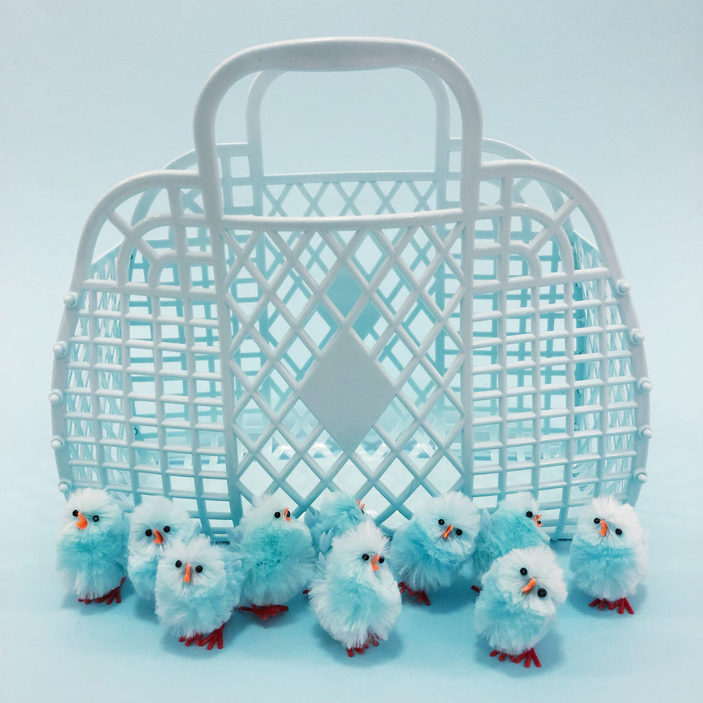 Jelly Retro Basket - Mini Light Blue