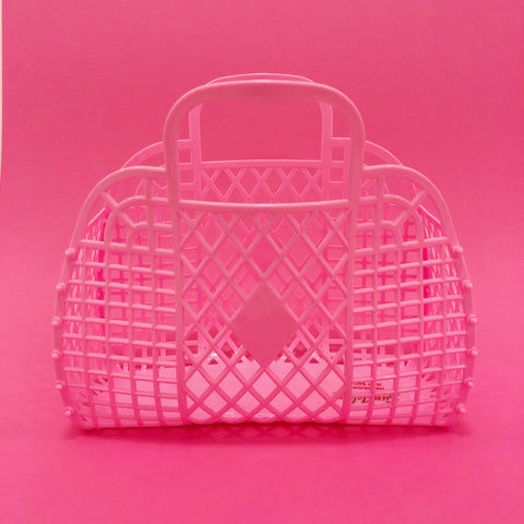 Jelly Retro Basket - Mini Bubblegum