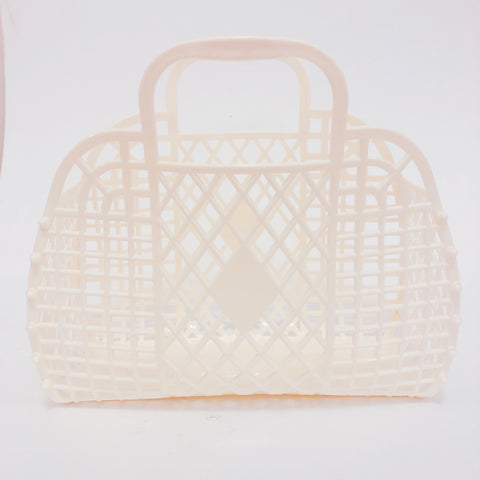 Jelly Retro Basket - Large Vanilla