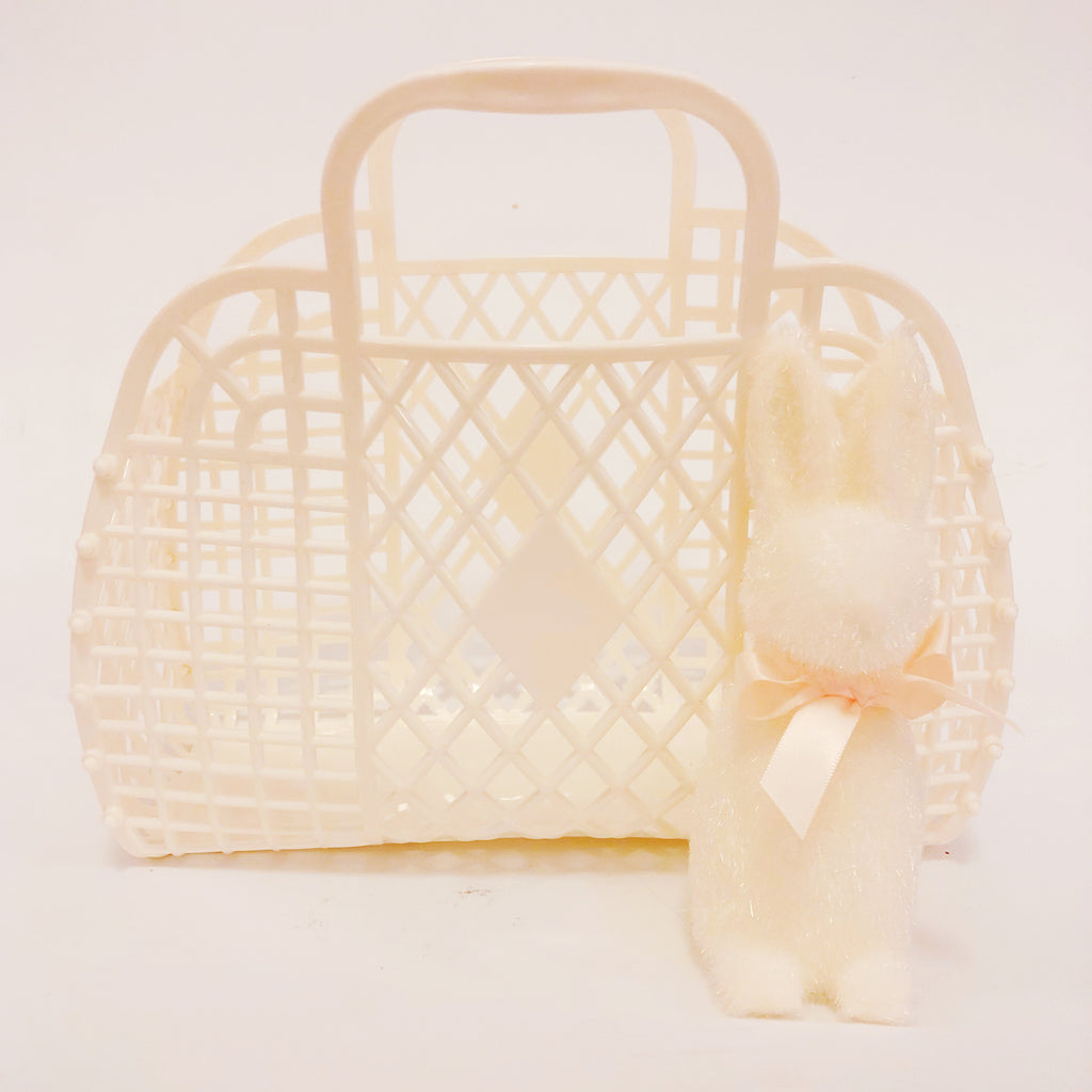 Jelly Retro Basket - Mini Vanilla