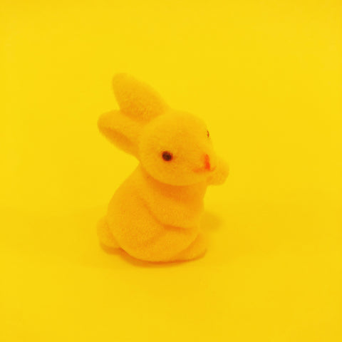 Fuzzy Waving Bunny - Tiny Yellow