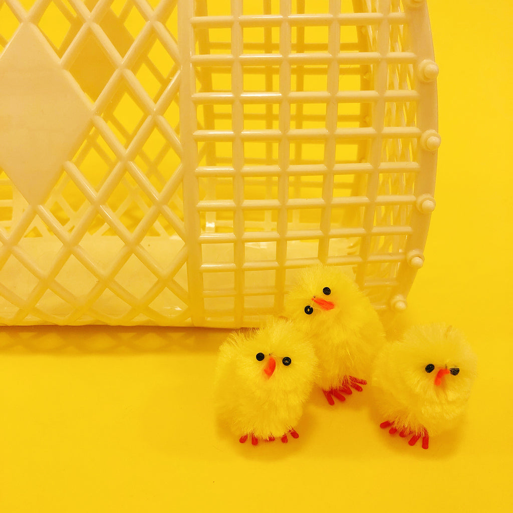 Mini Fluff Baby Chick - Yellow