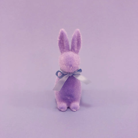 Fuzzy Bunny with Bow - Lavender