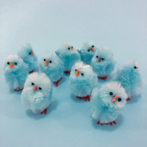 Mini Fluff Baby Chick - Light Blue