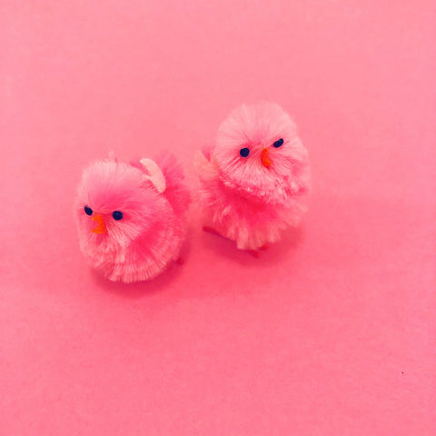 Mini Fluff Baby Chick - Hot Pink