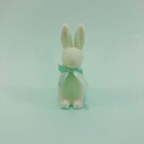 Fuzzy Bunny with Bow - Mint
