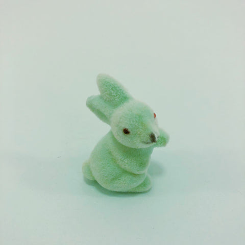 Fuzzy Waving Bunny - Tiny Mint