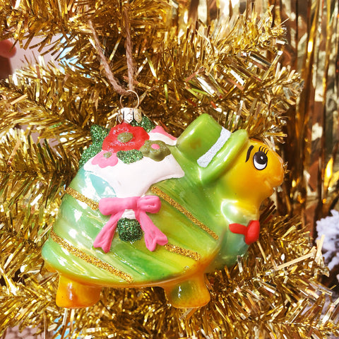 Very Fancy Turtle Ornament
