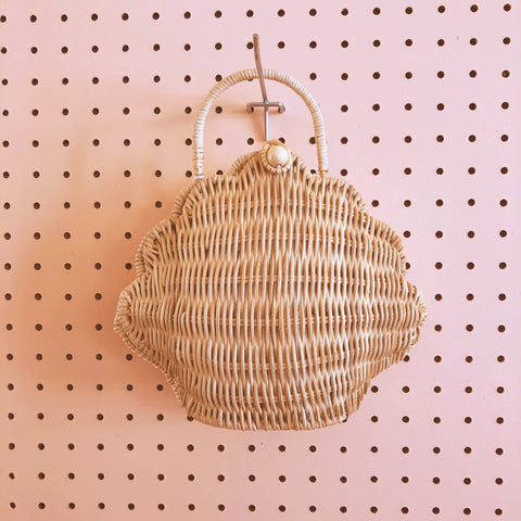 Rattan Shell Bag - Olli Ella