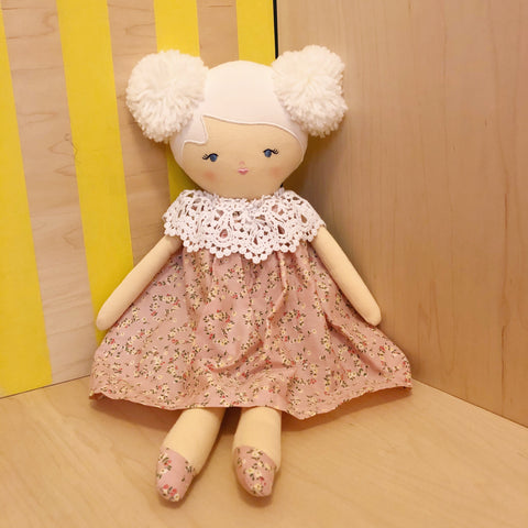 Aggie Doll with Pink Posy Dress