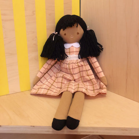 Pippa Doll with Pink Plaid Dress