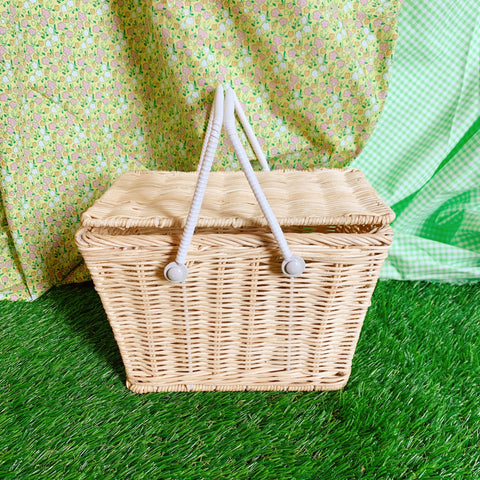Natural Straw Piki Basket - Olli Ella