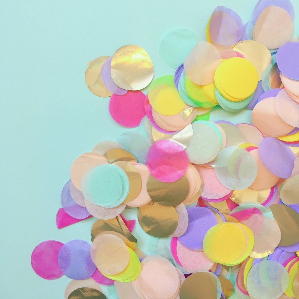 Spring Rainbow Party Confetti