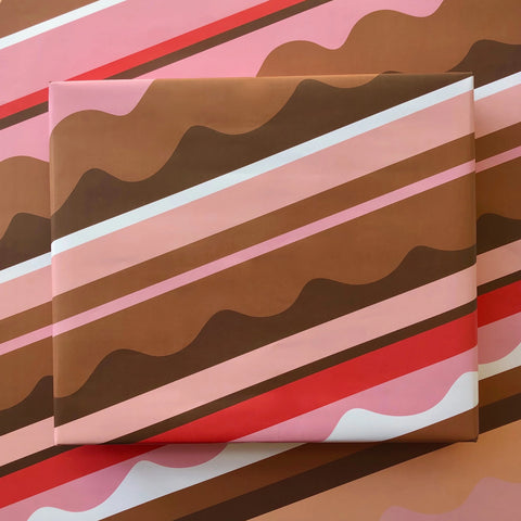 Confectioner's Stripe Gift Wrap