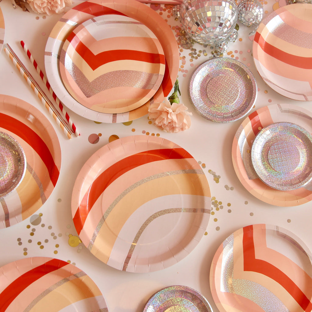 Mini Disco Canape Plates