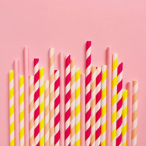 Lemon Slice Paper Straws - Mixed Pack