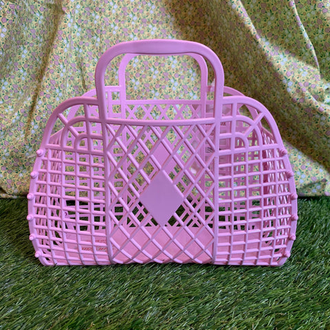 Jelly Retro Basket - Mini Lilac