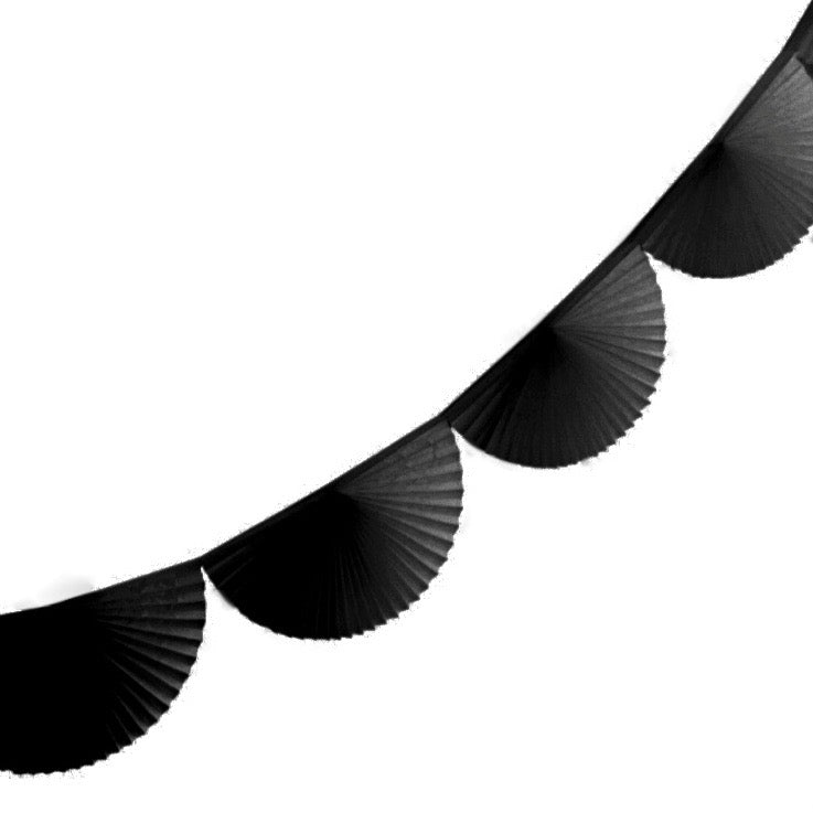 Black Fan Tissue Garland