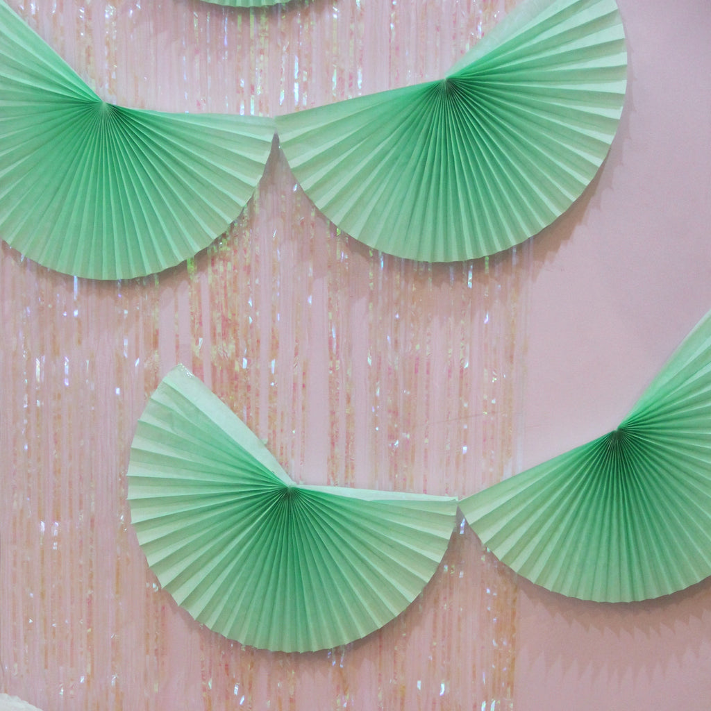Mint Fan Tissue Garland