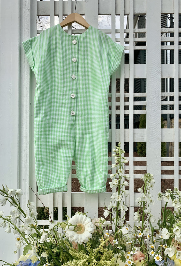 The James Jumpsuit - Lime Gingham