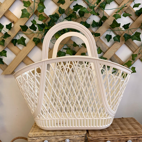 Retro Betty Basket - White