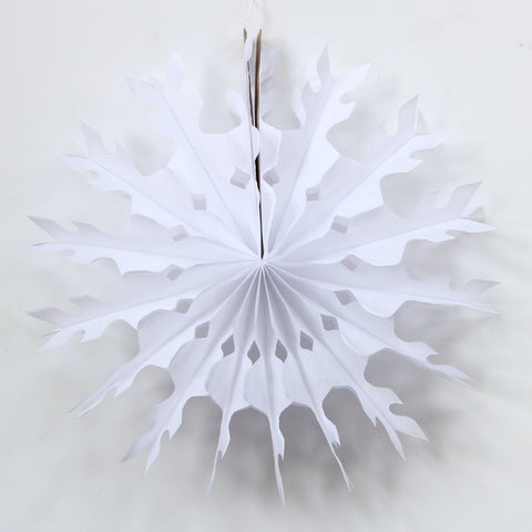 White Snowflake Decoration - 15 Inch