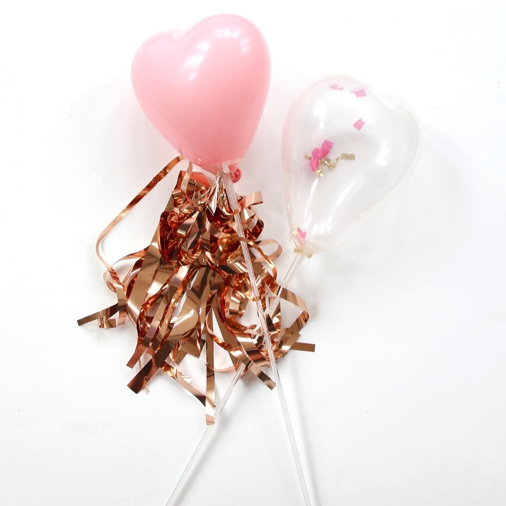 Pastel Pink Miniature Heart Balloons- Pack of 20