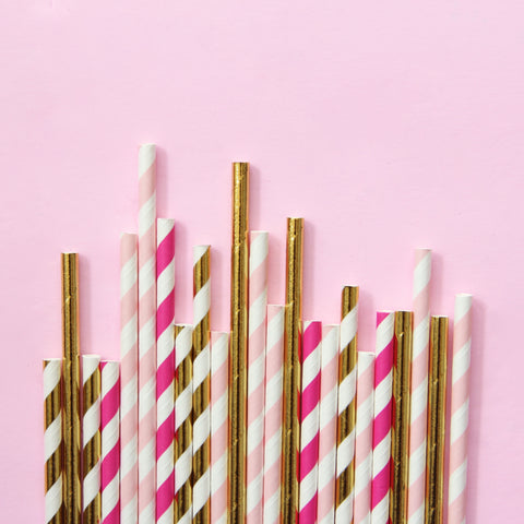 Flamingo Paper Straws - Mixed Pack