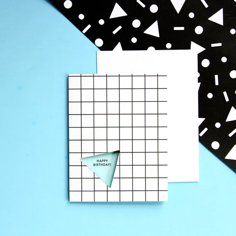 Grid Birthday Card