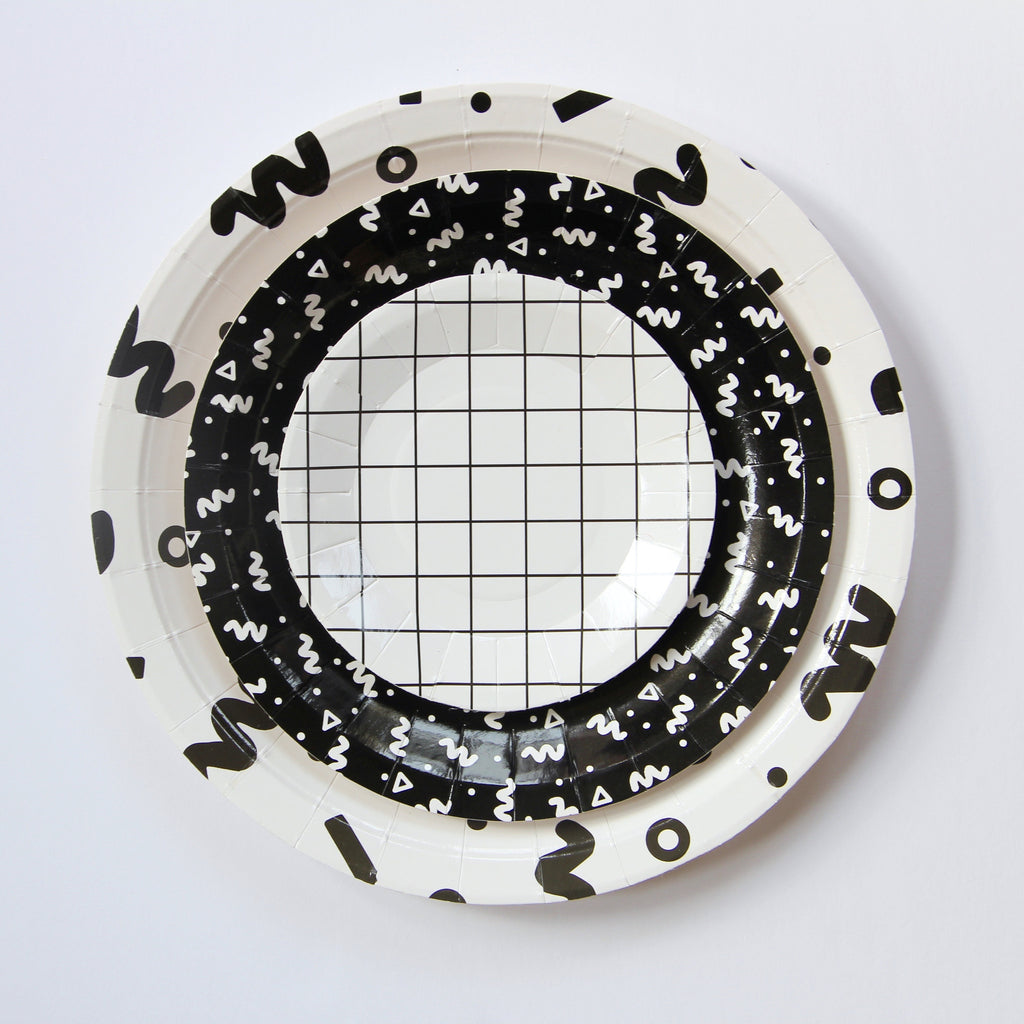 "Grid 4.25"" Mini Canape Plates"