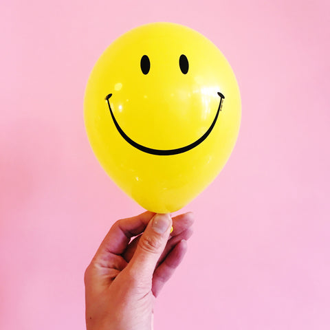 Mini Smile Balloons - classic smiley face